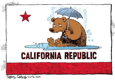 California Rain Art Print