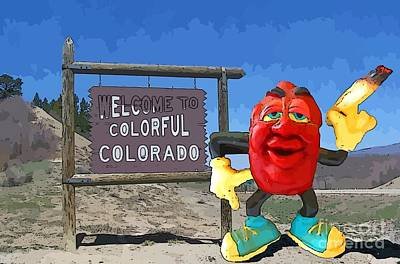 Modern Sophistication Beaches And Waves - California Raisin High in Colorado by John Malone