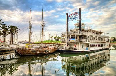 Photograph - California Riverboat And Lighthouse by R Scott Duncan