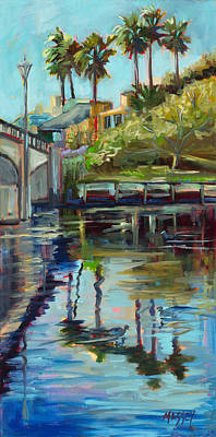 Painting - California Riverside, Plein Air by Marie Massey