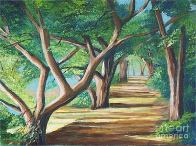 Painting - California Road by Jean Pierre Bergoeing