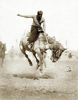 Photograph - California Salinas Radeo Circa 1915 by California Views Mr Pat Hathaway Archives