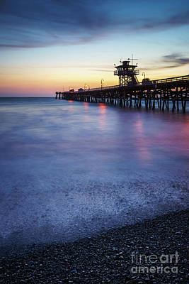 San Clemente Beach Photograph - California San Clemente Pier At Sunset Picture by Paul Velgos