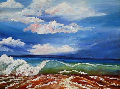 California Seascape Art Print by Mary Jo Zorad