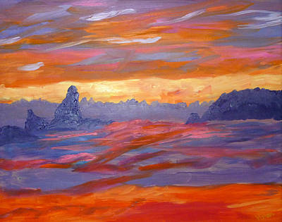 Painting - California Seascape by Vivian Stearns-Kohler