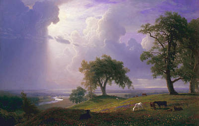 California Spring Art Print by Albert Bierstadt