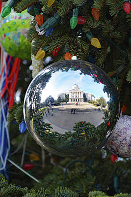 Photograph - California State Capital Christmas by Pamela Patch