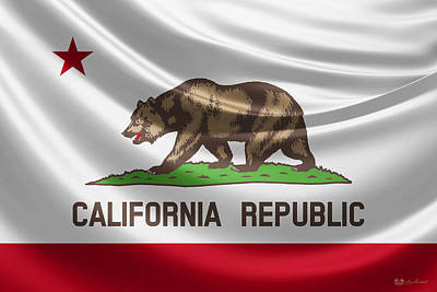 Digital Art - California State Flag by Serge Averbukh