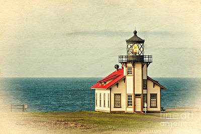 Photograph - California - State Historic Park Point Cabrillo Lighthouse by Gabriele Pomykaj
