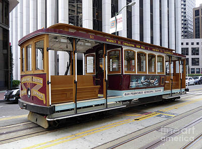 Photograph - California Street Cable Car by Steven Spak