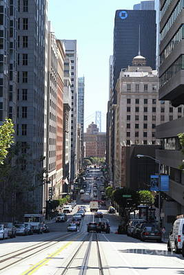 Photograph - California Street In San Francisco 7d7182 by San Francisco Art and Photography
