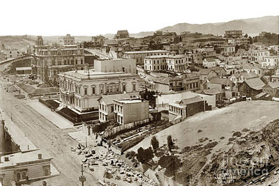 Photograph - California Street Part Of A San Francisco Panorama By  Edweard J. Muybridge 1877 by California Views Archives Mr Pat Hathaway Archives