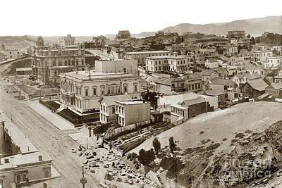 Photograph - California Street Part Of A San Francisco Panorama By  Edweard J. Muybridge 1877 by California Views Mr Pat Hathaway Archives