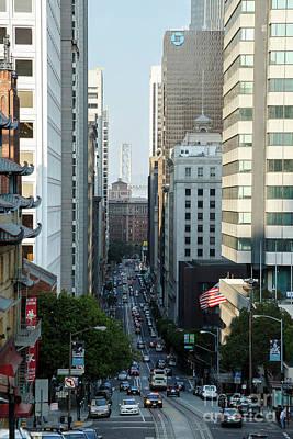 Photograph - California Street San Francisco by Andy Myatt