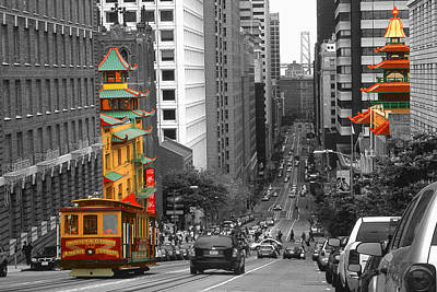 Photograph - California Street San Francisco by Art America Gallery Peter Potter