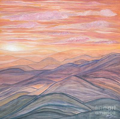 California Sunrise Original by Barbara Donovan