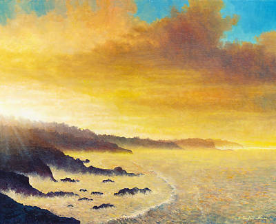 Painting - California Sunrise by Douglas Castleman