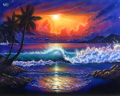 Painting - California Sunset by Angie Hamlin