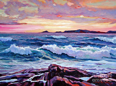 Ocean Sunset Painting - California Sunset by David Lloyd Glover