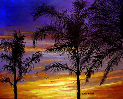 California Sunset Art Print by Olga Kaczmar
