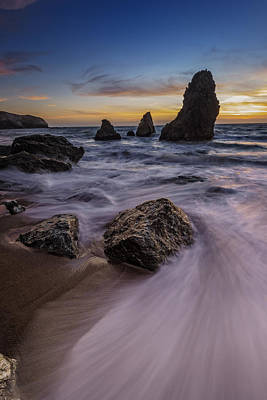 California Sunset On Rodeo Beach Art Print