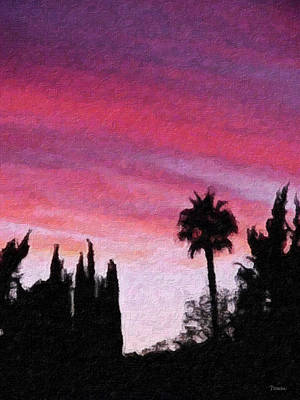 California Sunset Painting 2 Art Print by Teresa Mucha