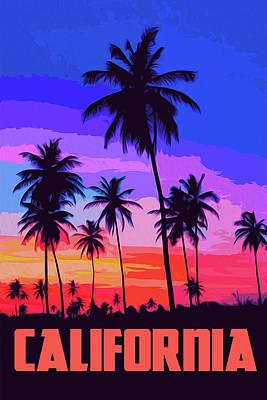 Painting - California, Sunset Sky by Andrea Mazzocchetti
