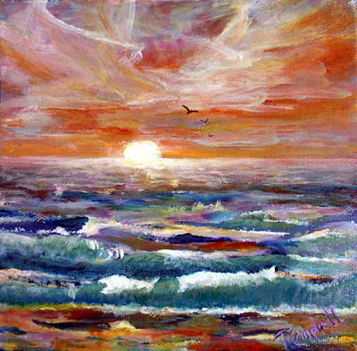 Painting - California Sunset by Trish Campbell