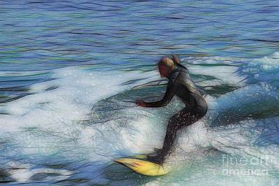 Seascape Photograph - California Surfer Abstract Nbr 18 by Scott Cameron
