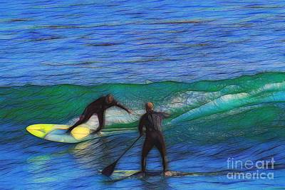 Abstract Photograph - California Surfer Abstract Nbr 6 by Scott Cameron
