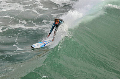 Photograph - California Surfer by Diane Lent