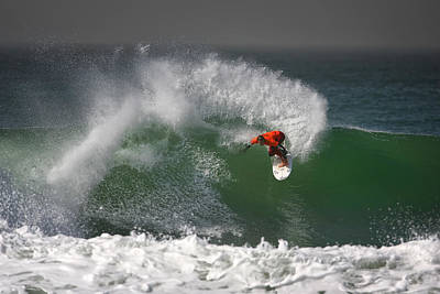 Action Photograph - California Surfing 2 by Larry Marshall