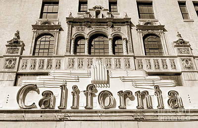 1940-1980 Retro-styled Imagery Photograph - California Theater Sign by Frank Short