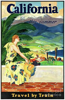 Photograph - California This Summer Restored Vintage Poster by Carsten Reisinger