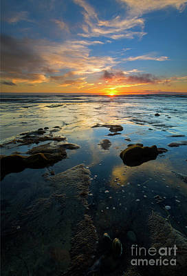 California Tidepool Sunset Art Print