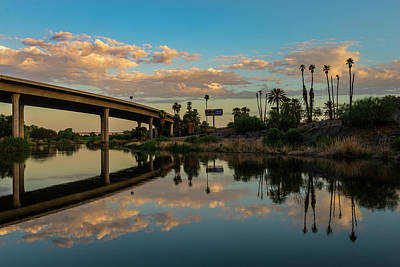 California To Arizona Art Print