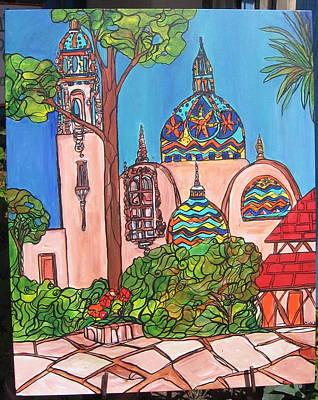 California Towers-balboa Park-san Diego Art Print by Michelle Gonzalez