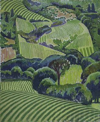 Napa Valley Vineyard Painting - California Vineyards by Robert McIntosh
