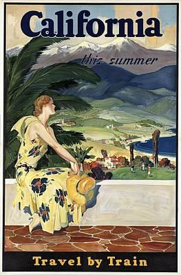 Painting - California Vintage Poster by Studio Grafiikka