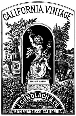 California Vintage Wine Label 1889 Art Print