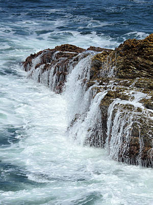 Photograph - California Waterfall by Pic Michel