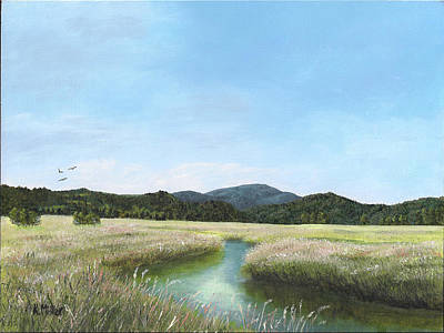 Painting - California Wetlands by Kathie Miller