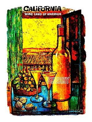 Painting - California Wine Board 1950s Wine Land Of America Number 4 by Peter Gumaer Ogden Collection