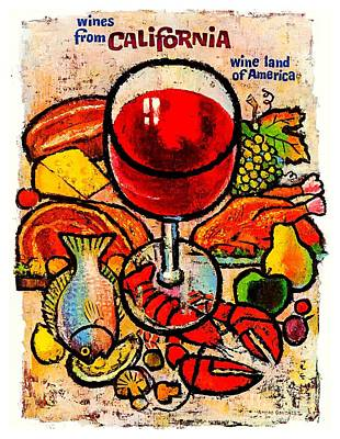 Painting - California Wine Board 1950s Wine Land Of America Number 1 by Peter Gumaer Ogden Collection