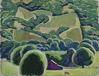 Napa Valley Vineyard Painting - California Wine Country by Robert McIntosh