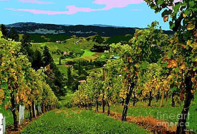 Jack Nicholson Mixed Media - California Wine Country by Thomas Pollart