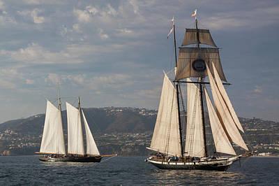 Photograph - Californian And America Off Dana Point by Cliff Wassmann