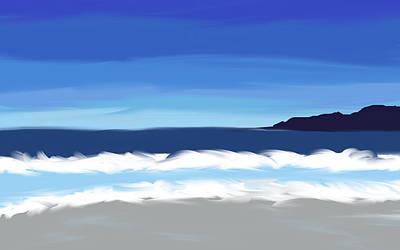 Digital Art - Californian Coast Abstract Seascape by Eliza Donovan