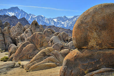 Photograph - California's Beautiful Alabama Hills by Ray Mathis