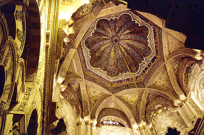 Photograph - Caliph's Ceiling Mosque De Cordoba by Mary Bedy